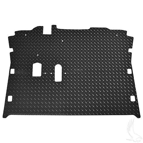 Floor Mat, Diamond Plate Rubber, Black, E-Z-Go RXV 08+