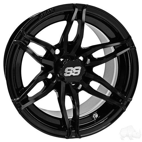 RHOX RX377, Gloss Black. 12x7 ET-25