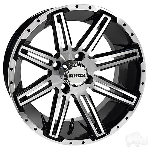RHOX RX275, Machined Gloss Black, 14x7, ET-25