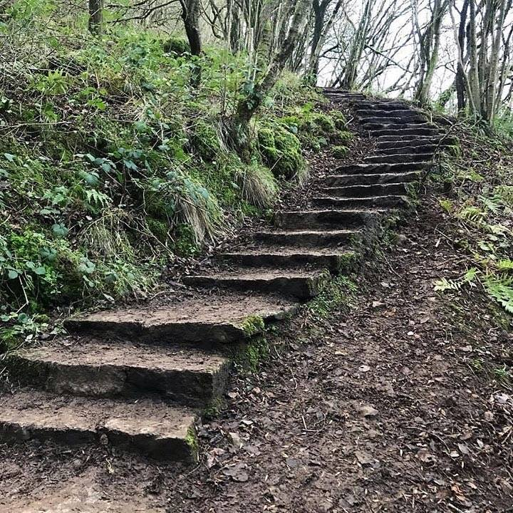 Steps to Thors Cave