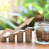 coins money saving setting growth up inc