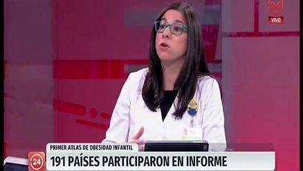 Bárbara Castillo, nutricionista de Vilbofit en noticiero 24 hrs canal TVN