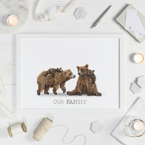Bear Family Print - Two Cubs
