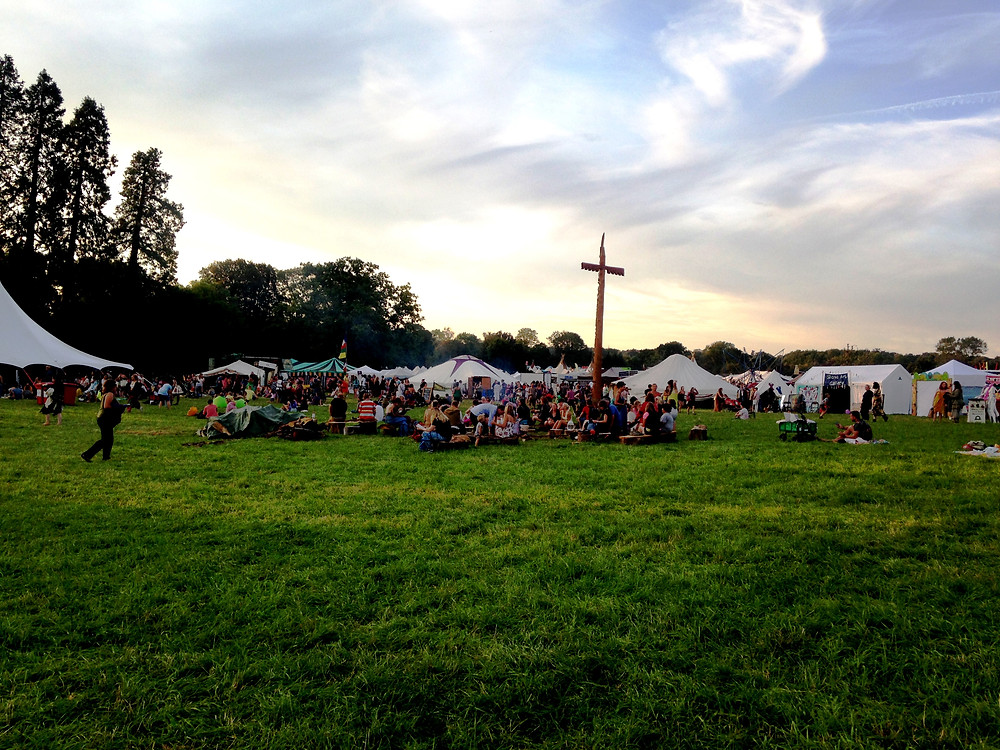 View of the main field at into the wild