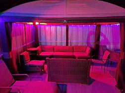 Poolside Gazebos at The SPOTT Night Club