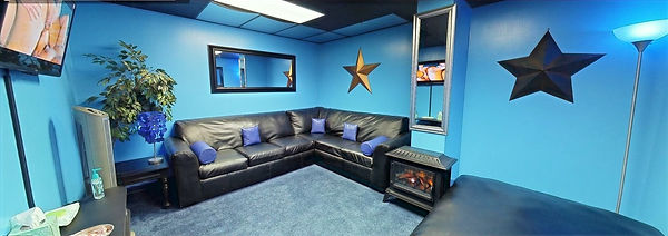 Private, Intimate Theme Lounge - The Blue Room
