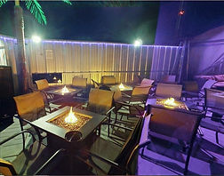 Outdoor Fire Tables at The WETTSPOTT