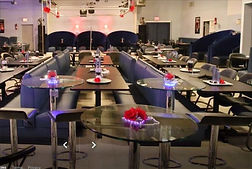 LED Glass Bar Height Tables at The SPOTT Night Club
