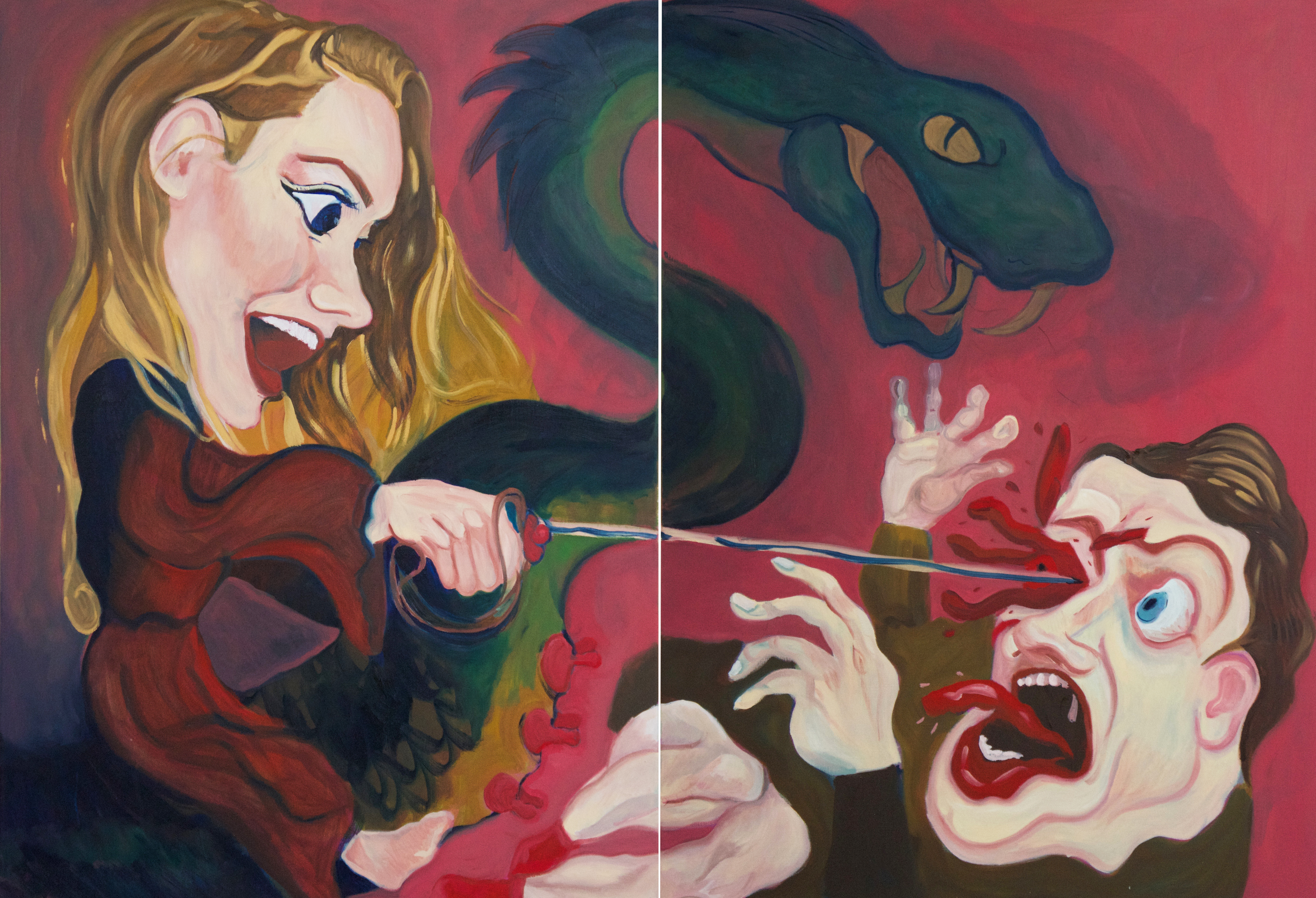 Georgina and the Dragon Diptych