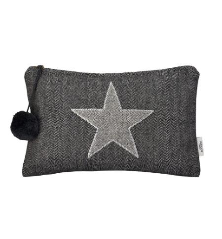 Santa Eualia - Grey Tweed Clutch