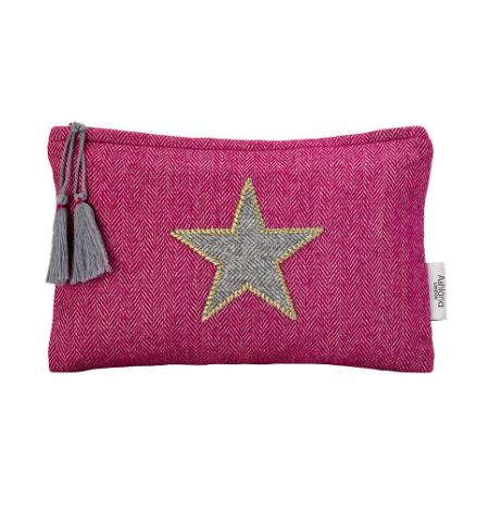 Santa Eualia - Pink Tweed Pouch