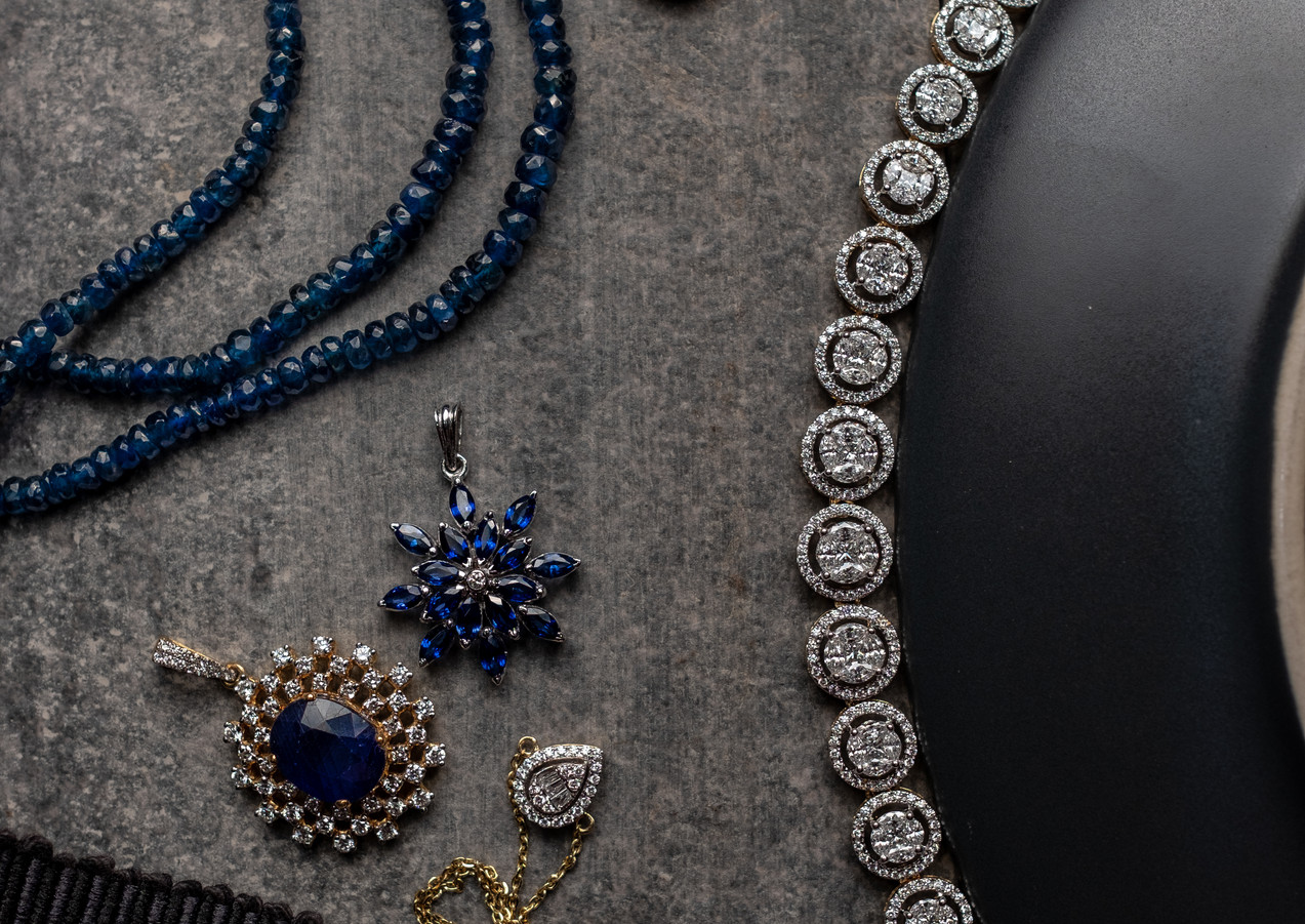 Simple selection of items with a beautiful necklace