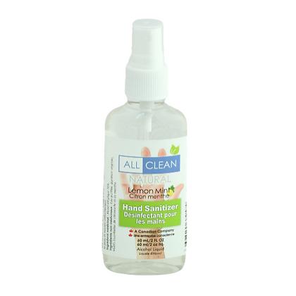 "All Clean Hand Sanitizer ""lemon mint"" spray"