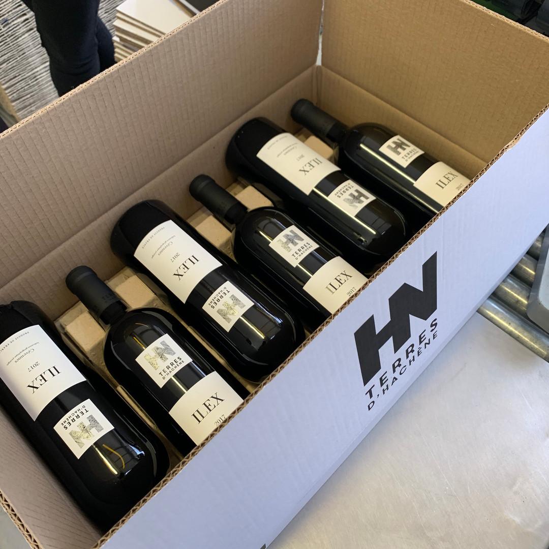 Domaine Terres d'Hachène Ilex Mise en bouteille