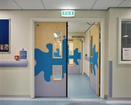 Protection PVC portes Hôpital