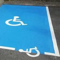 Peinture parking handicapé