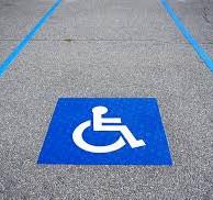 Logo peinture de sol handicapé