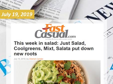 This Week in Salad: Just Salad, Coolgreens, Mixt, Salata put down new roots