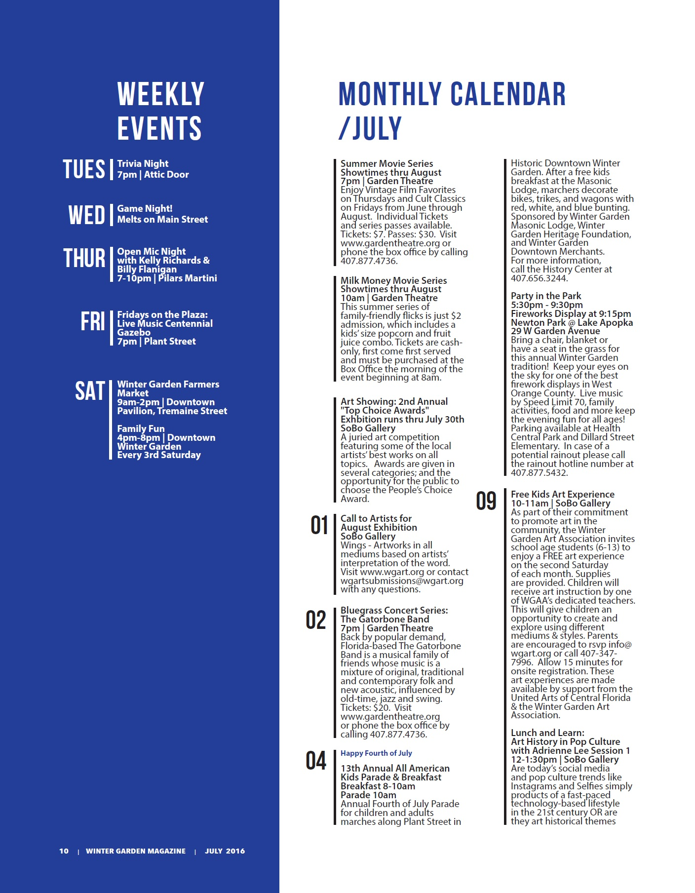 july events the winter garden magazine