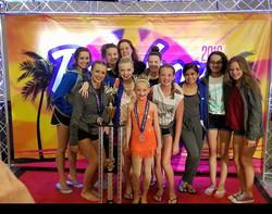 Bravo BDA dancers of the year contenders Sarah Wiers, Hailey Searing, and Lindsay Kos!!! _You rock o
