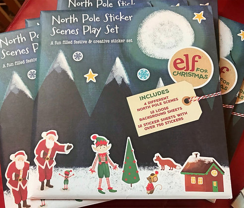 North Pole Sticker Scenes Play Set