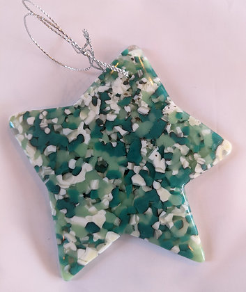 Green and Blue Glass Star