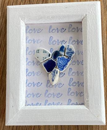 Framed Ceramic Heart