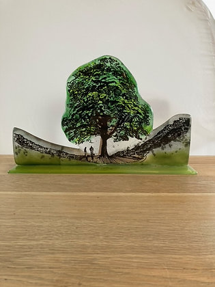 Extra Large Sycamore Gap Glass Statuette
