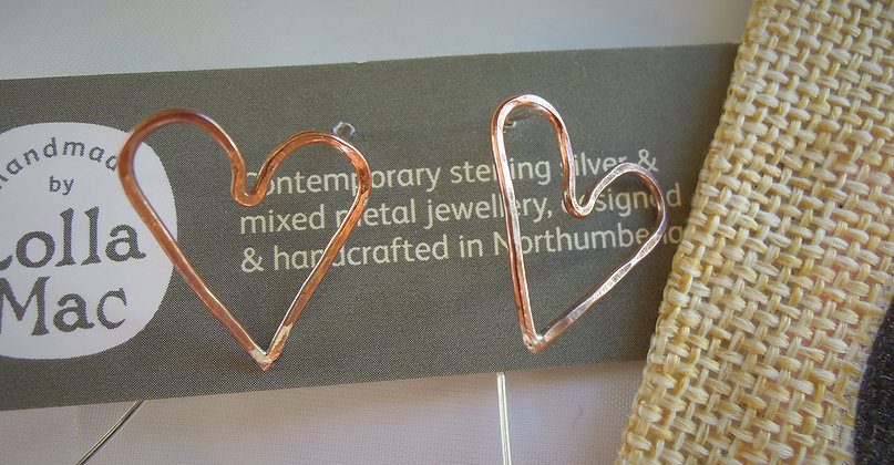 Copper Heart - Earrings