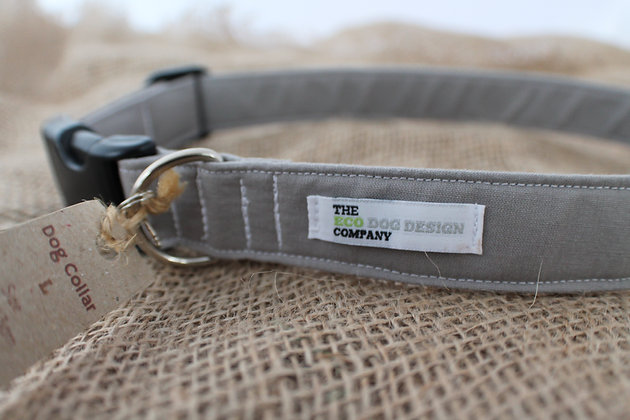 Large Grey Dog Collar