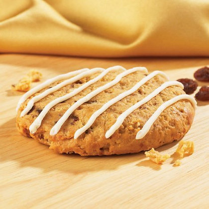HIGH PROTEIN OATMEAL RAISIN COOKIE WITH DRIZZLE ($1.99/svg)