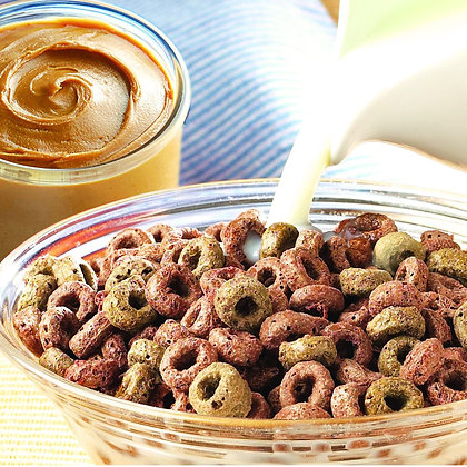 HIGH PROTEIN CHOCOLATE PEANUT BUTTER CEREAL ($1.89/svg)