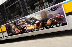 Circus billboard on bus