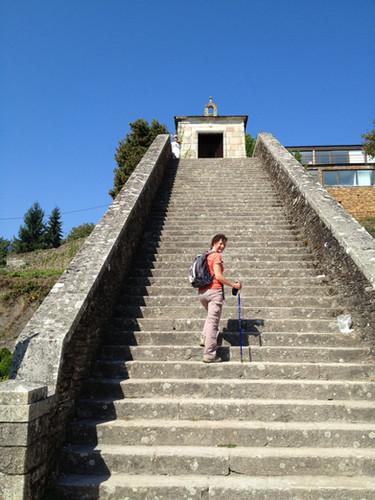 Stairs at Portomarin township