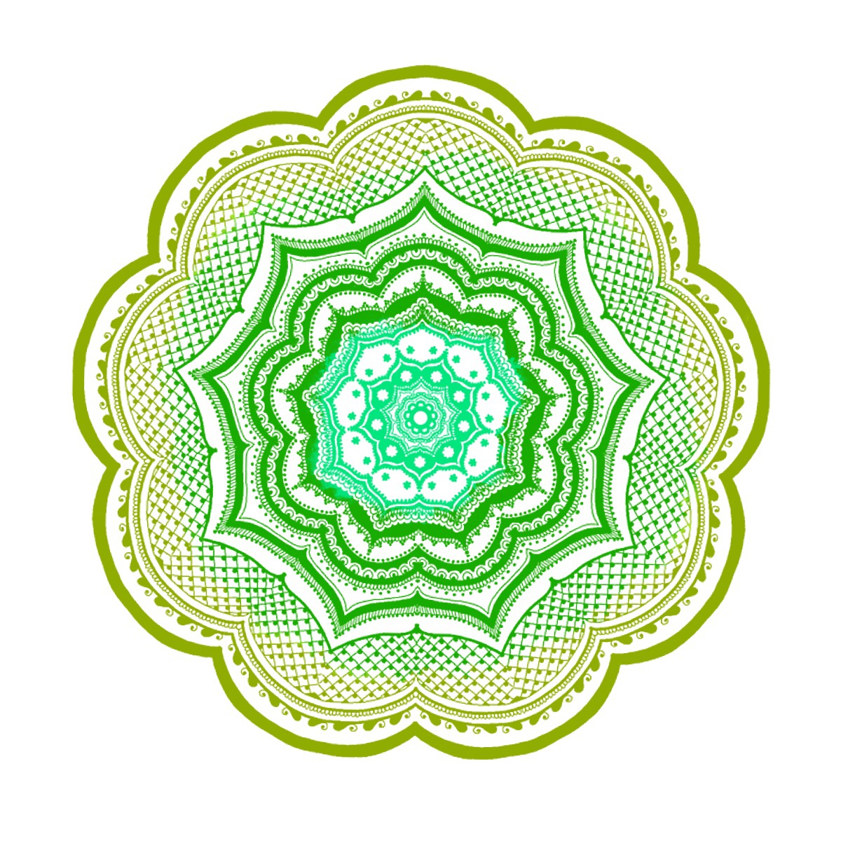 Mandala made on Ipad