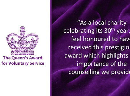 HBBS RECEIVES THE QUEEN'S AWARD FOR VOLUNTARY SERVICES FOR 2019