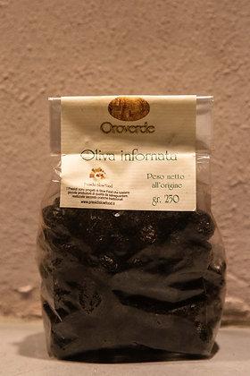 Ferrandina baked black olives 250 gr