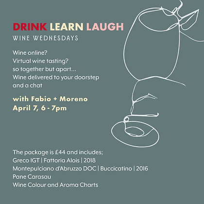 Wine Wednesdays with Fabio and Moreno - 7 April 6-7pm