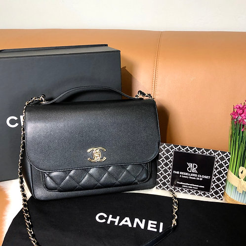 Chanel Black Business Affinity Shoulder Bag