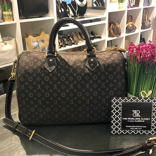 Louis Vuitton Speedy 30 Dark Brown Idylle Bandouliere with Strap