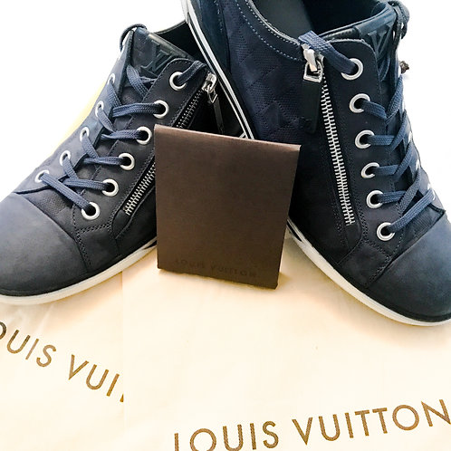 Louis Vuitton Damier Blue Zipper Sneaker