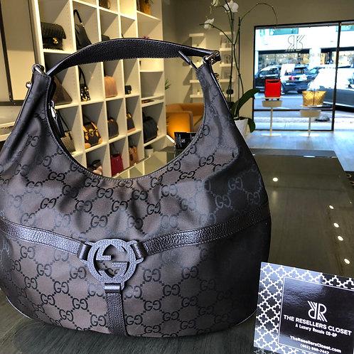 Gucci Rein Brown GG & Ring Hobo Shoulder Bag