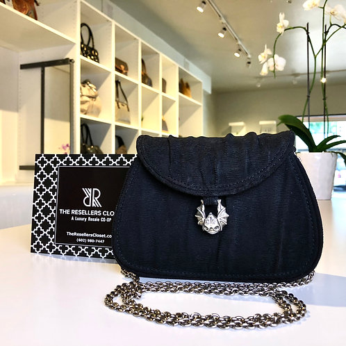 Keilselstein Cord Black Bat Evening Shoulder Bag
