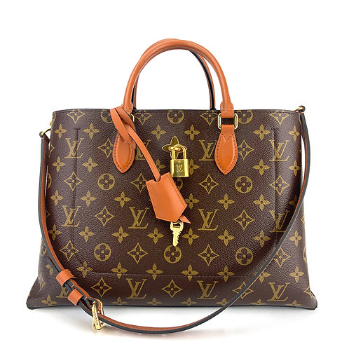 Louis Vuitton Flower Caramel Monogram Canvas Tote Bag