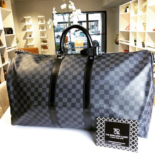e733546e49f3 Louis Vuitton Damier Graphite Keepall Bandoulière 55