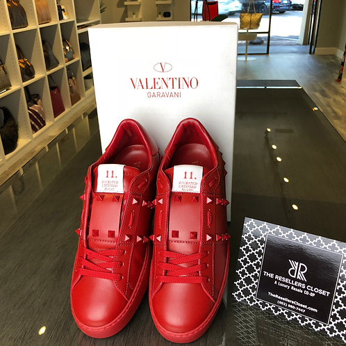 Valentino Red Rockstud Studded Women's Sneakers Size 40