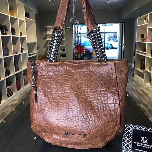 Jimmy Choo Nica Brown Leather Hobo Bag