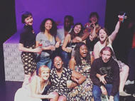"""Cast photo for """"How To Be A White Man"""" @ FaultLine Theater, 2017"""