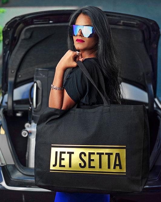 Black & Gold Jet Setta Tote