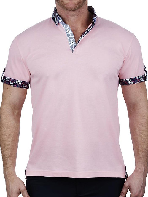Mozart Solid Pink Polo